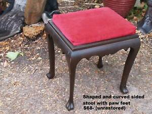 Dressing table stools,  Foot stools ,   Antiques etc