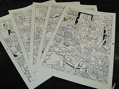 Original Art Story (Archie 422) 5 Pages COMPLETE! STAN GOLDBERG 1994 ART#419