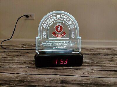 Vintage Stroh's Beer Sign/Digital Clock