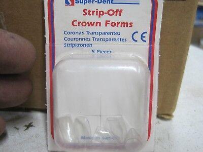 Super -dent Strip Off Crown Forms Pack Of 5