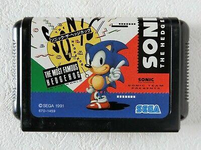 SONIC THE HEDGEHOG MD Genesis Sega Mega Drive From Japan