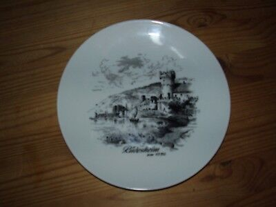 "Kaiser Porcelain Wall Plate ""Rudesheim HM 1730"" (VGC)"