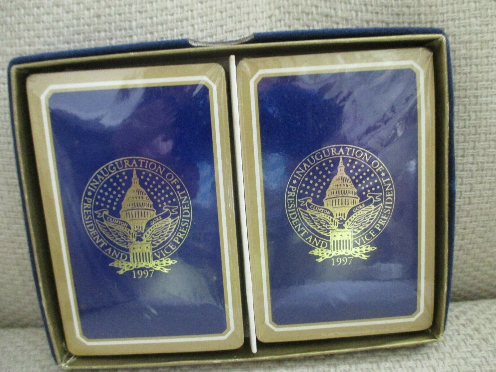 Bill Clinton, Al Gore -Presidential Inauguration Playing Cards Set -1997 -NEW - $39.75