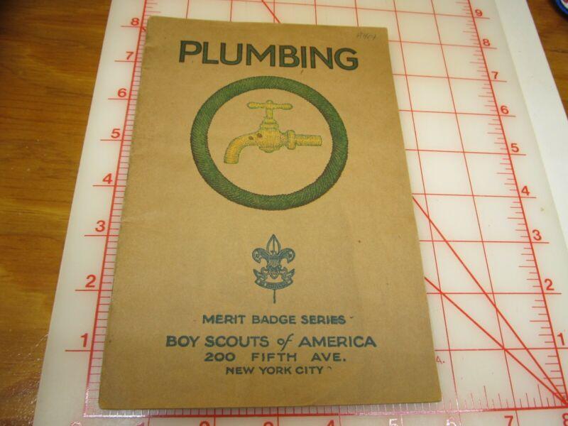 Tan cover PLUMBING merit badge book type (3A)