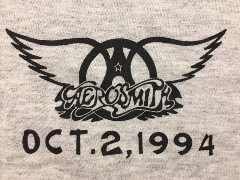 Vintage Acme AEROSMITH Oct 2 1994 When Does This F*cking Tour End? Shirt XL 🇺🇸