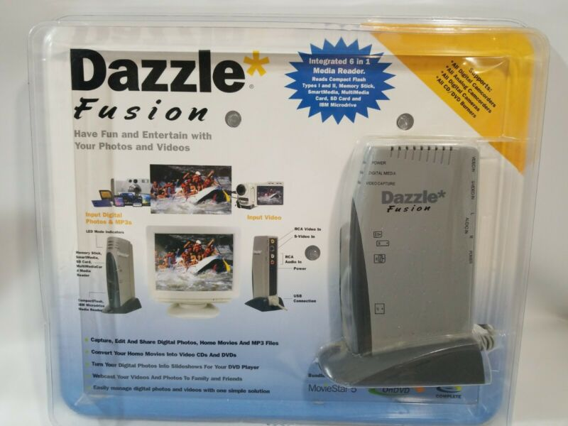 Dazzle Fusion Digital Media Capture Device Convert Home Video Movies Reader