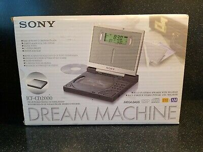 Sony ICF-CD2000 Dream Machine CD Clock FM/AM Radio w/ Backlit Display NEW