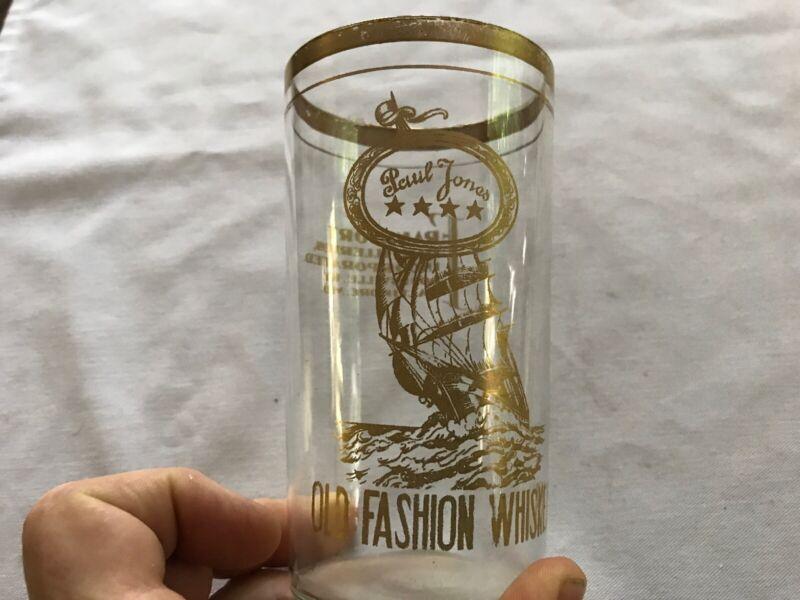Paul Jones Old Fashion Whiskey Vintage Glass, Louisville, Kentucky