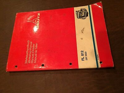 Deutz Fl 812 291 1823 W Workshop Service Manual Air Cooled Diesel Engine Manual