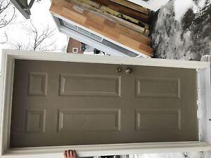 Steel exterior door unit with frame