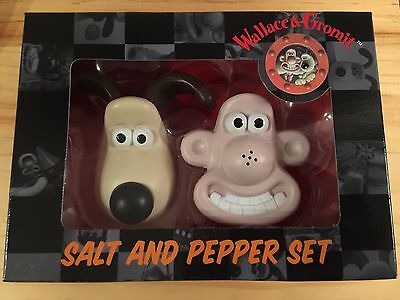 Wallace and Gromit Salt and Pepper Set - New Official Aardman Wallace & Gromit