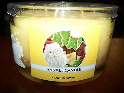 Three Wick Glass - Big Glass Container Yankee Candle Christmas Cookie Swap Triple Three Wick 17 oz.