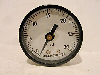 Ashcroft Pressure Gauge 0-30 Psi Back Center Mount