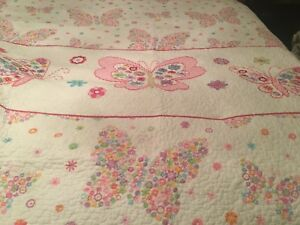 Pottery Barn-Style Reversible Twin Butterfly Quilt & Shams