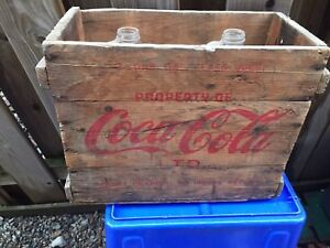 Coke Cola Wooden Crate
