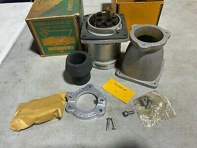 Vintage Russell Stoll Lc1034 Pin Sleeve Receptacle 100a 480vac 250vacdc Nos