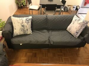 Navy blue IKEA sofas great condition