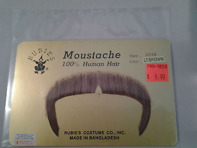 LT Brown Zapata Moustache 70's 80's Character Stache 100% Human Hair  Style2016 - 70s Mens Hairstyles