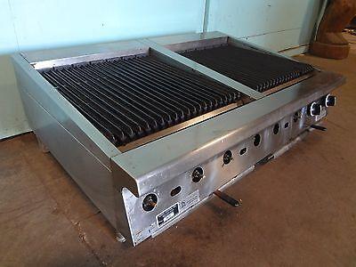 U.s. Range H.d. Commercial 48 Nat.gas Counter Top Radiant Grillchar-broiler