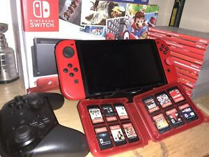 Nintendo switch.  lots of games.
