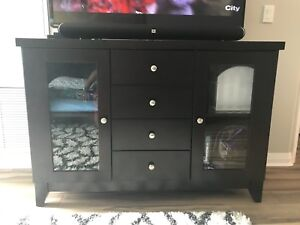 Solid wood tv stand / dinette hutch