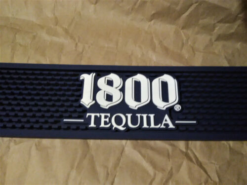 """1800 Tequila Beer Bar Rail/ Party Rubber Spill Mat/ Holiday Coaster 21"""" x 3.5"""""""