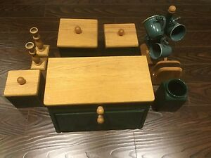 Breadbox and Canister Set