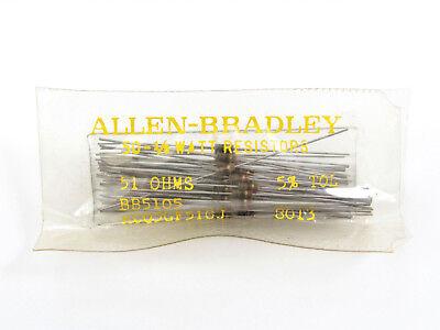 10x 51 Ohm To 1k Ohm - 18w 5 - Carbon Comp Resistors - Trw Ab Etc. Nos