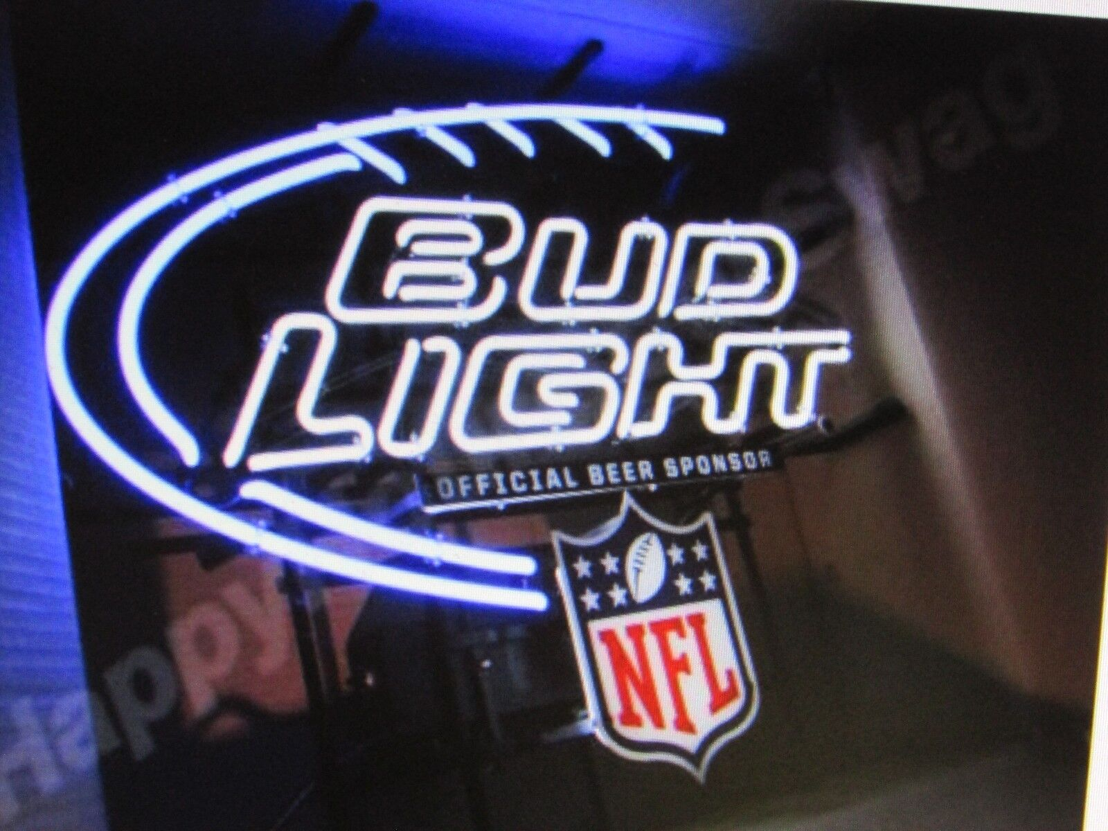 Bud Light Man Cave Signs : Quot official beer sponsor neon sign bud light replacement