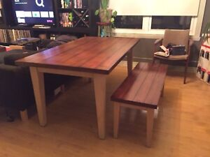 Pier 1 dinning room table  and long bench