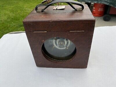 Unusual vintage / antique pigeon timer clock with lovely wooden case
