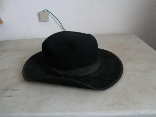 "Mens Stevens Vintage Beaver 3X Hat Black Size 7 1/8 Brim 3"" FREE SHIPPING!!"