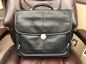 FOR SALE: Dell Black Leather Laptop Case