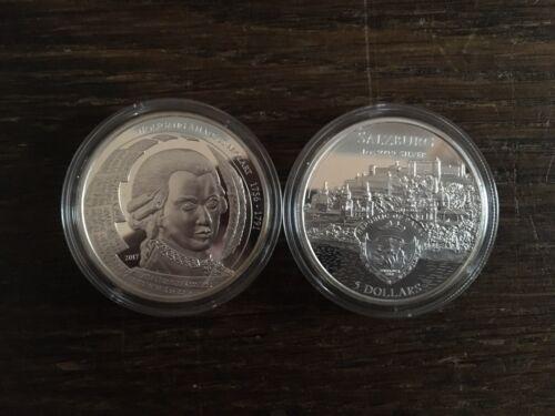 5 Dollar Palau 2017 Mozart Salzburg 1 Unze Oz Silber