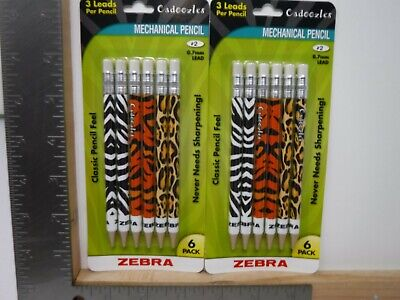 Zebra Cadoozles Mechanical Pencils Animal Prints 0.7mm Lead New A16604
