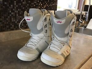 Ladies size 8 snowboard boots