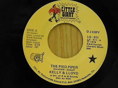 Kelly & Lloyd 45 The Pied Piper bw Annie's Love - Little Giant VG