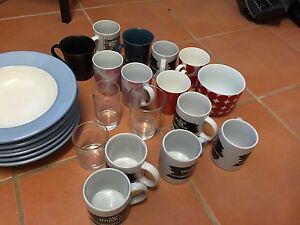 Plates,mugs,glasses, chopping board, bread tin Berkeley Vale Wyong Area Preview
