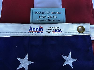 3x5 FT Annin US American Flag Tough Tex 2 Ply Poly Commercial Embroidered Stars