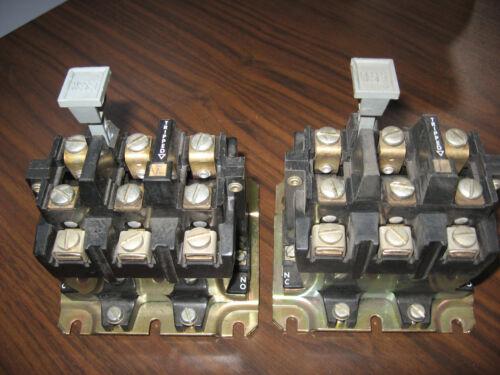 Lot of 2 Allen Bradley 592-BOV169 Overload Relays (Gray Reset)