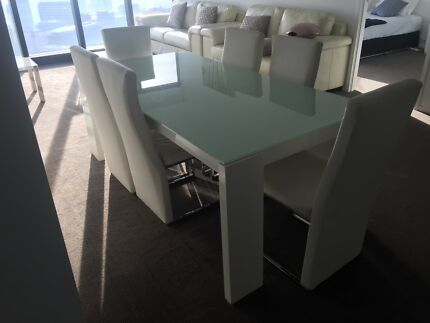 High Gloss White Dining Table And Chairs Delivery Free