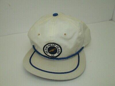 Hilton Head (Vintage Texace HILTON HEAD ISLAND South Carolina SC White Strapback Hat One Size)