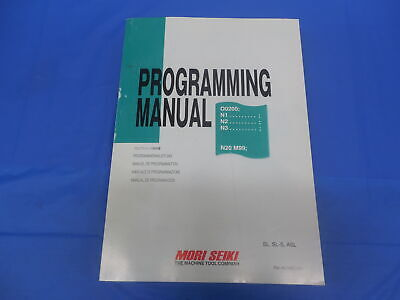Mori Seiki Machine Cnc Mill Programming Manual Pm-nltmsg501 Sl Sl-s Asl Msg