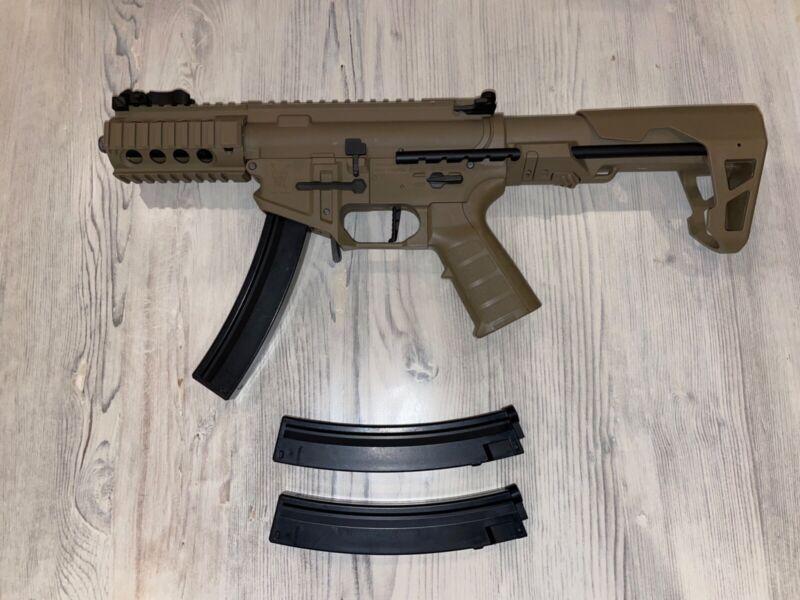King Arms PDW 9mm SBR shorty (Tan) Airsoft Rifle