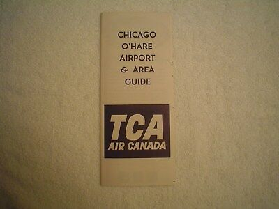 Vintage Trans Canada Airlines Chicago Ohare Airport Guide Air Canada From 1964