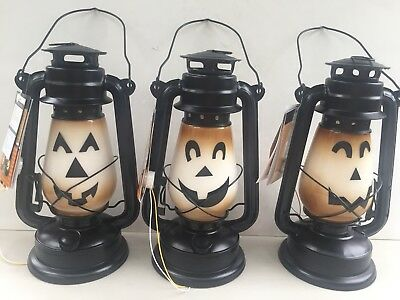 "Gerson Co. S/3 B/O Lighted Jack o'Lantern 12"" Lantern w/Glow & Timer 2421760 for sale  Pittston"