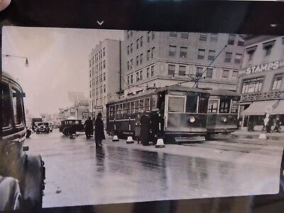 1938 NY&Q Flushing Queens Trolley Stamps Store New York City 8x10 Darkroom (Flushing Stores)