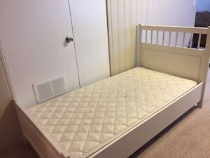 IKEA bed frame and Sealy mattress ($39 each or $69 together)