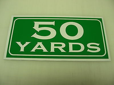 Vintage 50 YARD MARKER Metal Sign 4 Golf Club Yardage sign for Golf Course