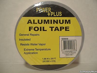 Powerplus Aluminum Foil Tape 1.88 In X 26 Ft Strong Adhesive